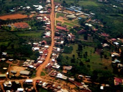 Outlying District of Kigali from the Air