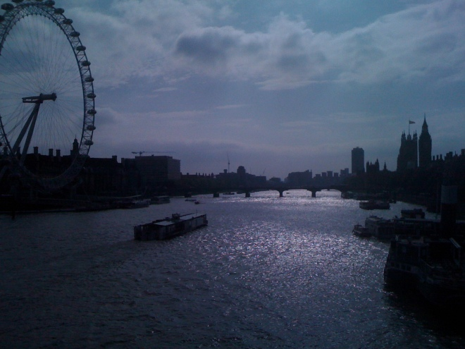 London from the bridge...